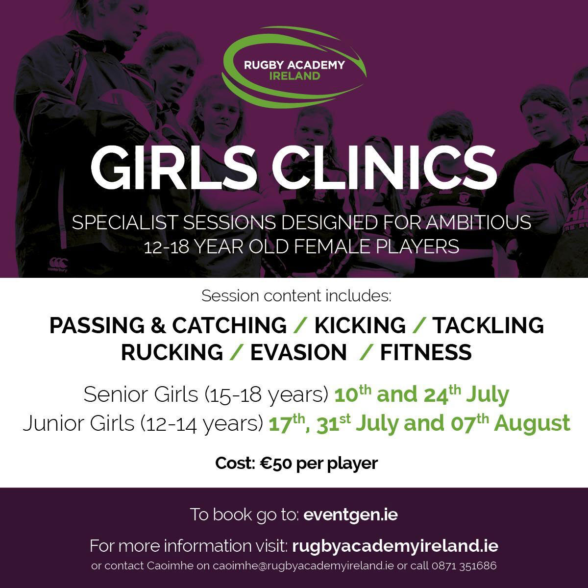 Girls rugby clinics