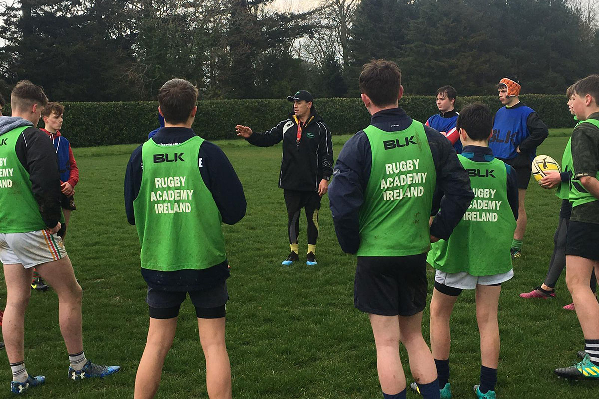 TY students rugby training